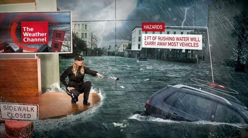 Come Weather Channel usa la realtà aumentata per le previsioni del tempo