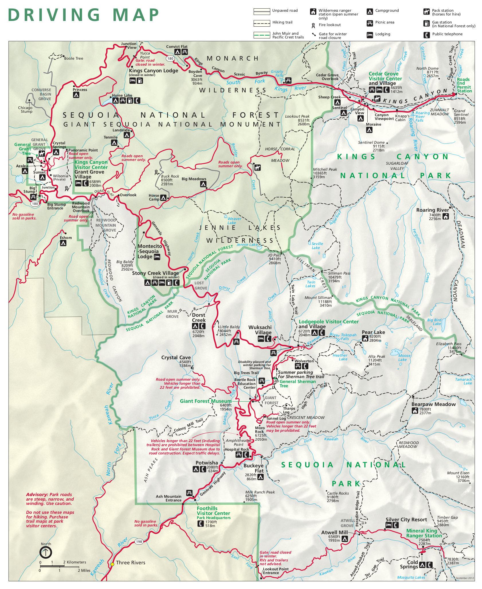 Parchi Nazionali: Sequoia & Kings Canyon