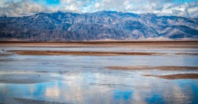 La pioggia nella Valle della Morte forma un lago lungo 16 chilometri