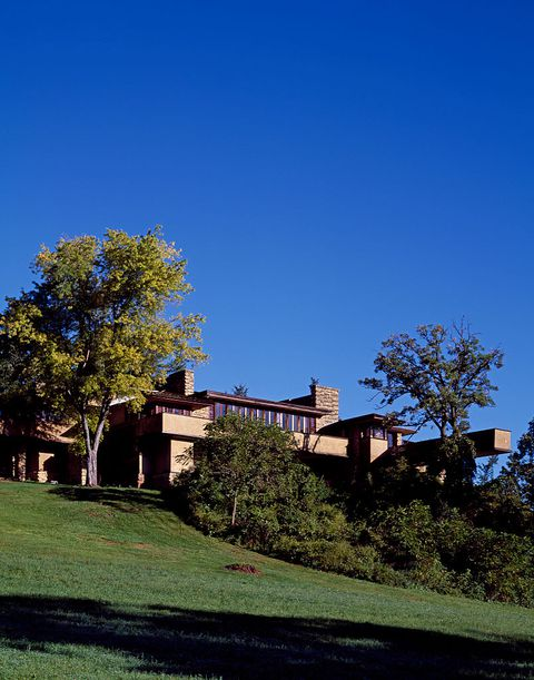 Taliesin, the natural house of architect Frank Lloyd Wright and one of the nation most famous homes,
