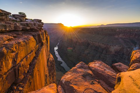 scenic view of toroweap overlook at sunrise  in north rim, grand canyon national park,arizona,usa
